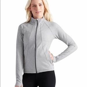 Athleta Criss Cross Hope Jacket gray white XL